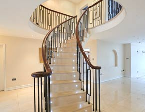 Contemporary Curved Stairs
