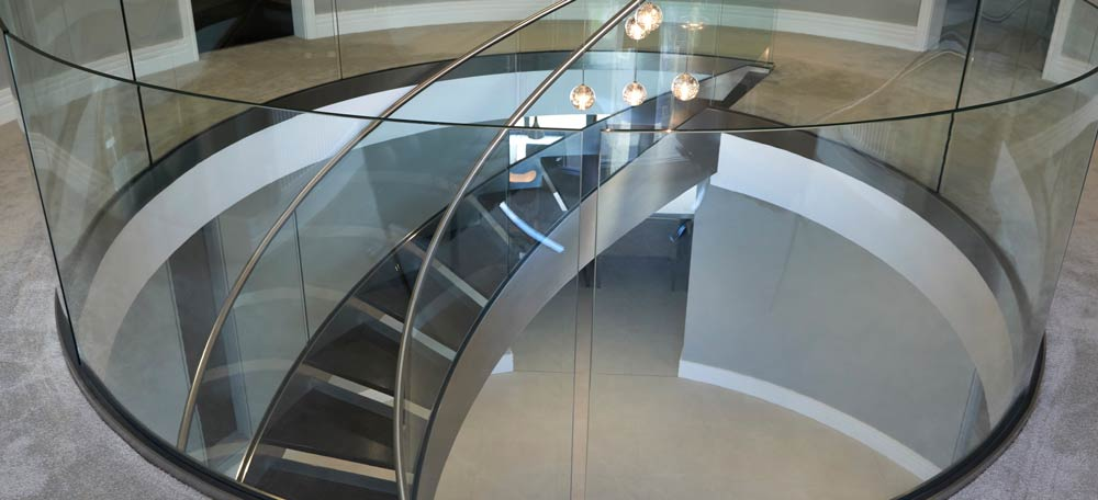 Close up of Glass Staircase
