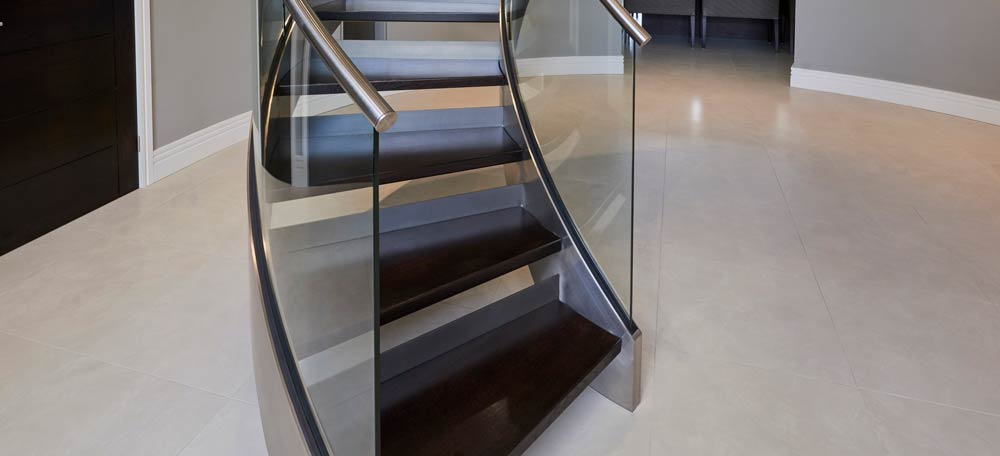 Close up of Glass Stairs