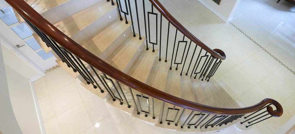 Curved Metal Banister