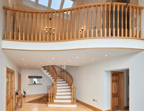 Multi Floor Wooden Staircase