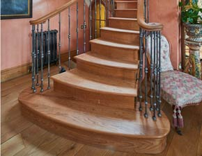 Traditional Metal and Wooden Stairs