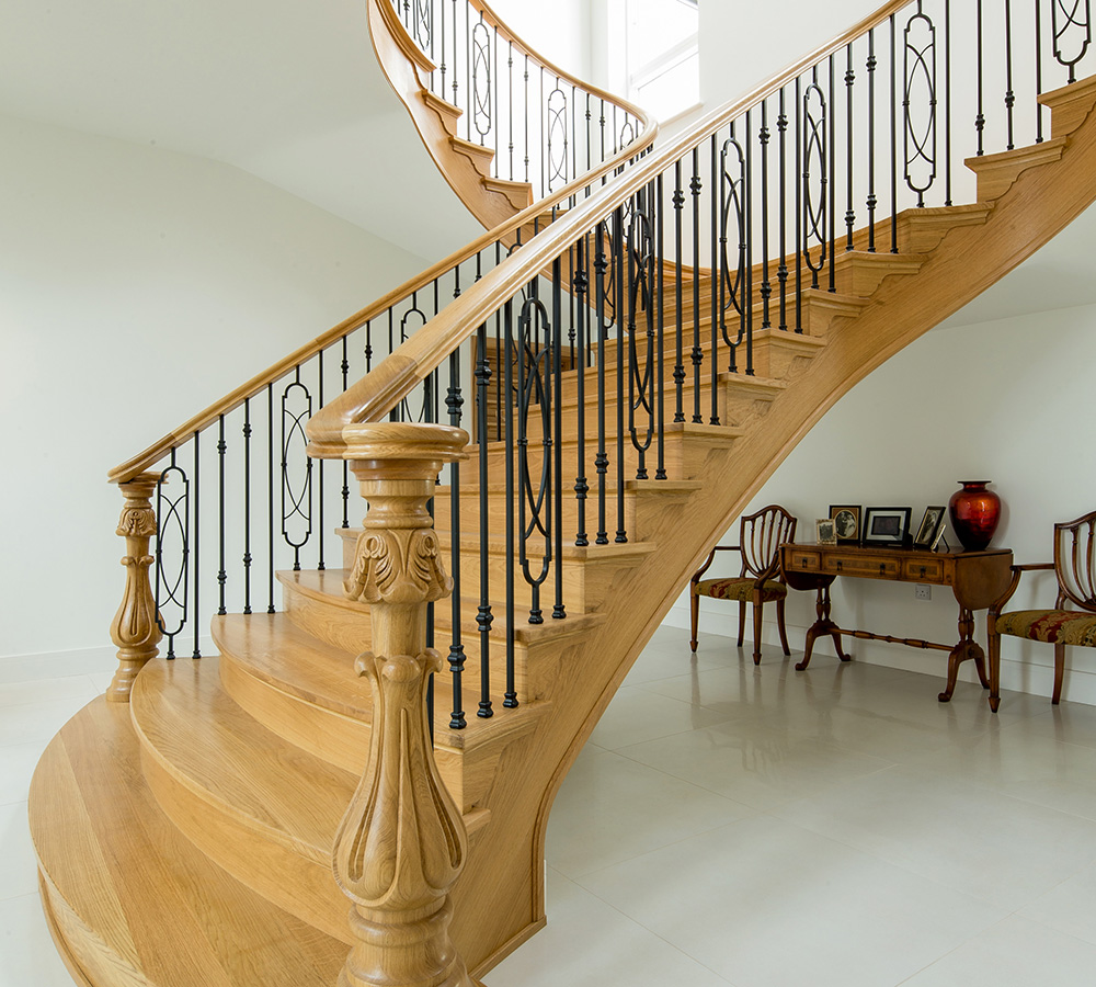 Bespoke Curved Staircase