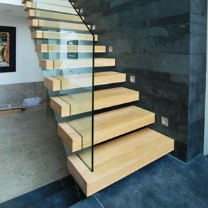 Straight Staircase Wooden